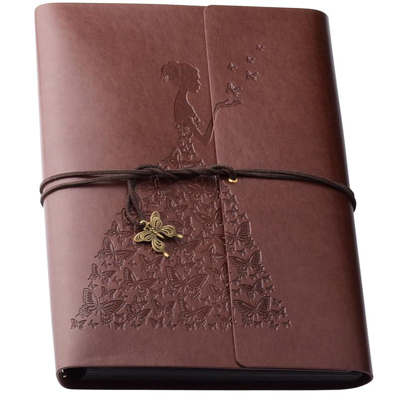 Scrapbook Albumleather Photo Albums Loose Leaf Albums 60 Pages