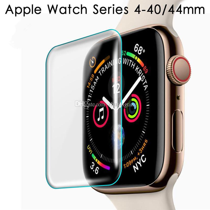 promo code 39e8c c1e8d Screen Protector for Apple Watch Series 4/3/2/1 Surface Hardness Full  Coverage Glue Tempered Glass Screen Protector - Clear