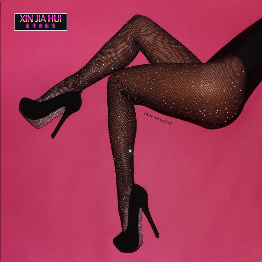 Acheter Collants En Résille Pas Cher Chaussettes En Strass Couleur Black  Star Discothèque Chanteur Dj Féminin Ds Pantalon De Forage À Chaud Brillant  Rave ... c63e9e20e44
