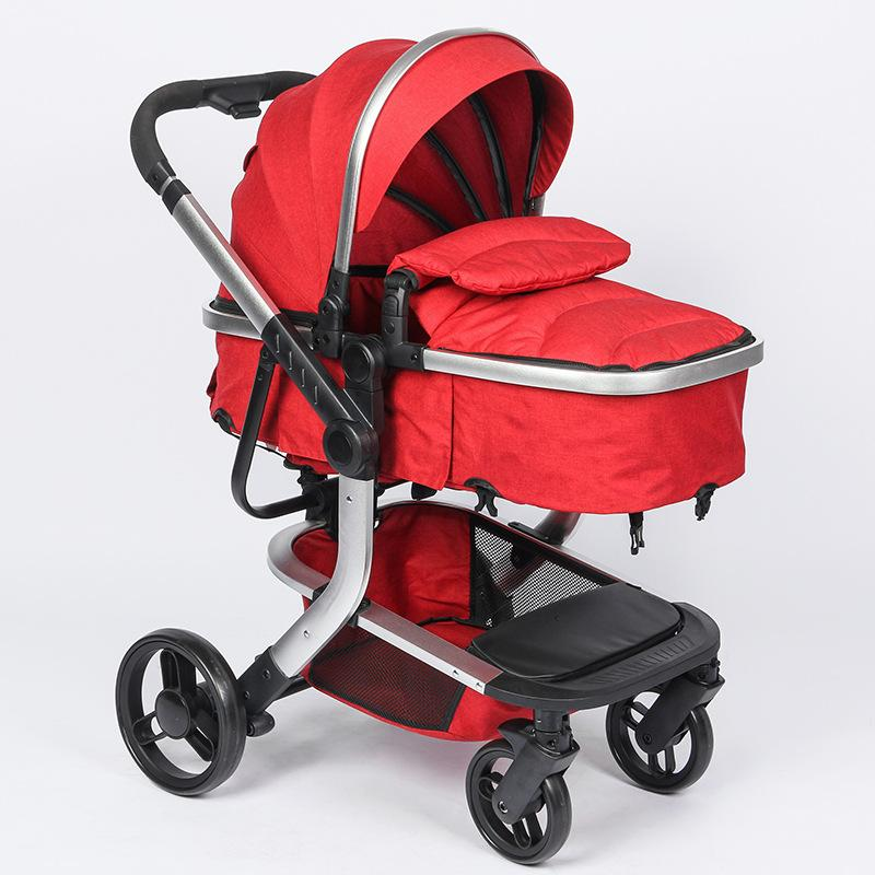 High Landscape Newborn Baby Stroller 3 In 1 With Car Seat Travel System Convertible Pushchair Sleeping Basket Car Safety Seat