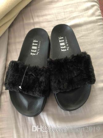 meet 59029 69753 2018 Leadcat Fenty Rihanna Shoes Women Fenty Rihanna Bandana Slide Women  Slippers Fenty Bow Slide Indoor Sandals Women slide