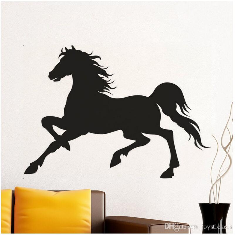 Running Horse Direct Deal Door Wall Art Sticker Quote Sofa Background Decal Vinyl Removable Wall Stickers For Living Room 53*75 cm