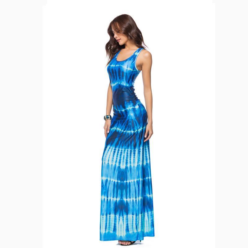 4XL 5XL Plus size Bodycon Bandage Dresses for Women 2018 Fashion O-neck  Sleeveless Tank Casual Summer Dress Long Maxi Dresses