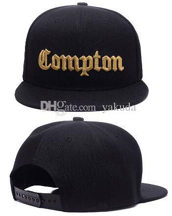 906cb686173 2019 Hot Christmas Sale 2018 Fashion SSUR Snapback Compton Black Hats Mens  Women Fashion Adjustable Snapbacks Caps