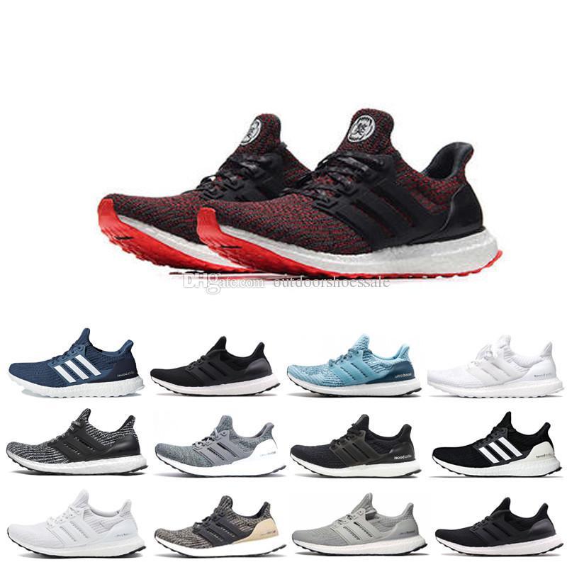 fcb5dd33577cd BA8841   S80636 New All White Ultra 3.0 Sneakers Men Footwear Black ...