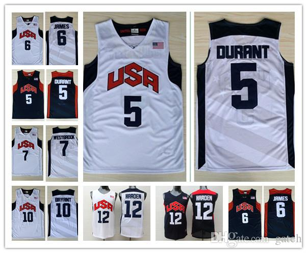 050813f4e czech kevin durant olympic jersey f842c 3a47b  real best 2012 london olympic  games dream team 5 kevin durant 6 lebron james 12james harden
