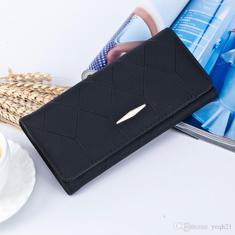 Marka Yeni Bayanlar Çanta Cüzdan Sahipleri PU Deri Futbol Hattı Sıfır Çantalar Cep Iki Katlama Para Çantaları Kart Sahipleri