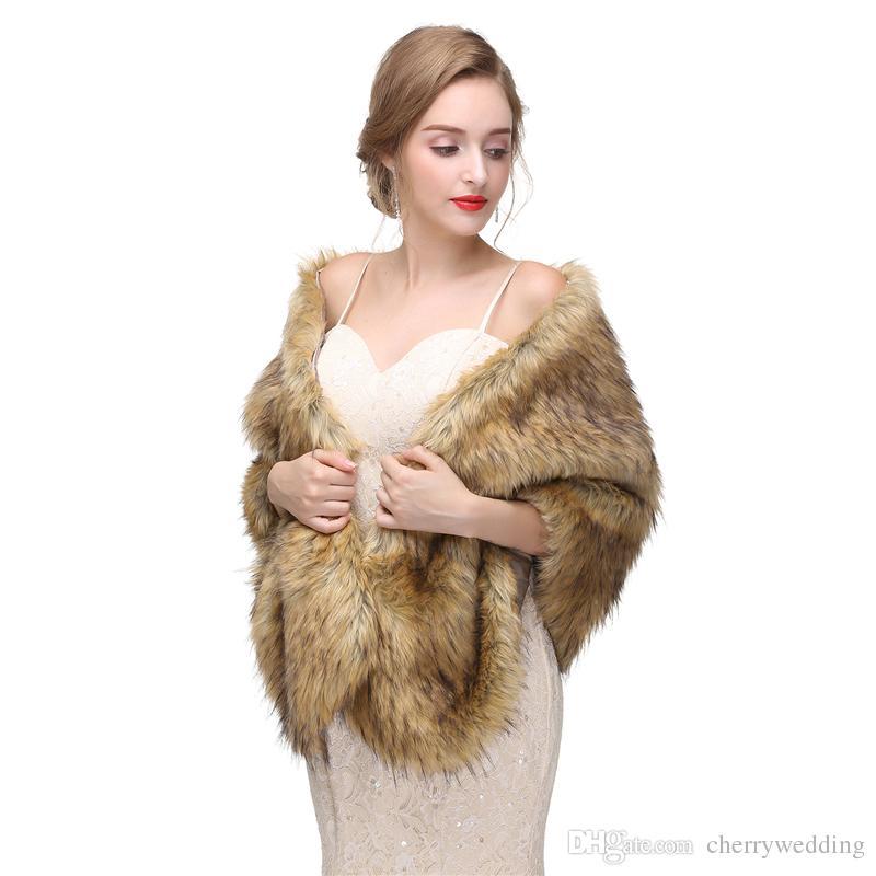 CMS01 Bolero Jacket Bridal faux fur wrap Faux fur stole shrugs Faux fur cape and shawls Wedding Bolero Jacket