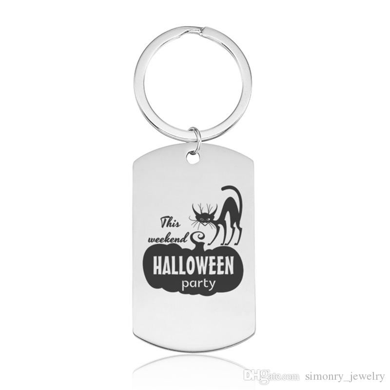 Halloween Keychains Stainless Steel Pumpkin Lantern Printing Keyrings Men  Women Feast Day Gift New Arrival Jewelry Wholesale Retractable Key Chain  Leather ... eae395791e