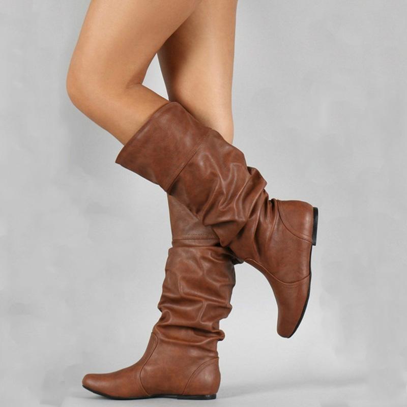 fd005e2cfd725 Compre Botas Altas Para El Muslo Botines De Mujer 2018 Zapatos De Mujer  Botas De Otoño Invierno Sexy Ladies Night Party Shoes Botas De Moda  Feminina A ...