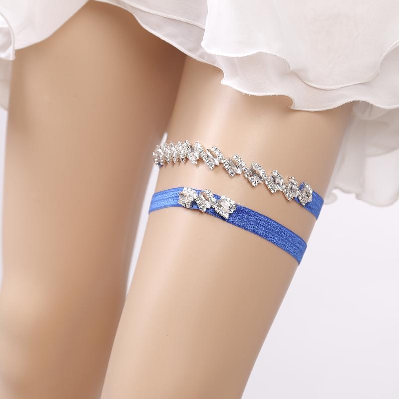 Wedding Garter Rhinestone Embroidery Flower Beading Blue Sexy Garters For  Women Female Bride Thigh Ring Bridal Leg Garte UK 2019 From Avive 6acb6922199b
