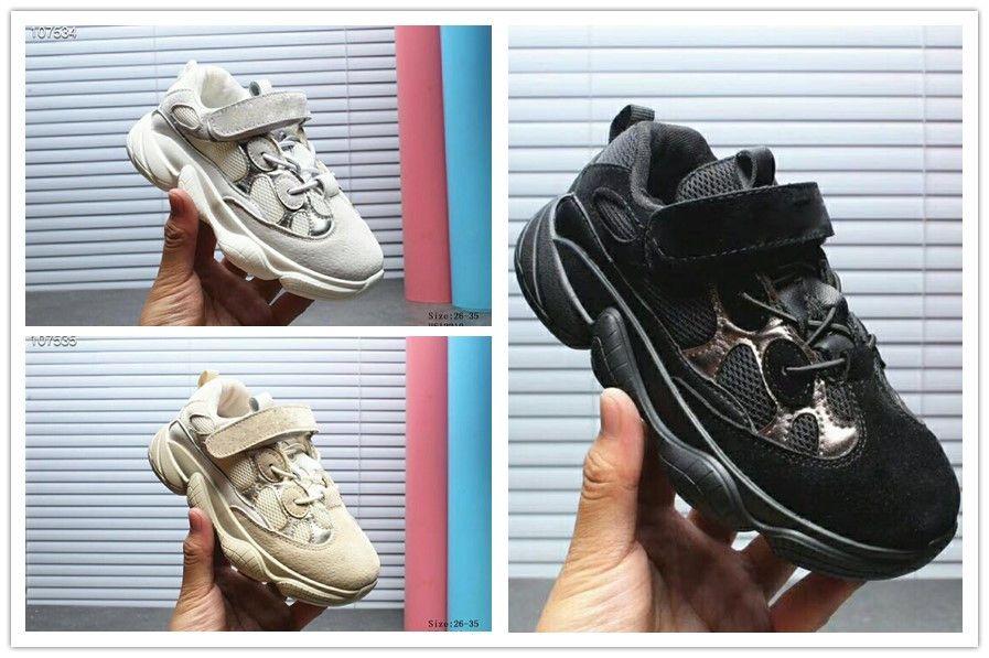 Adidas yeezy supreme 500 2018 Kinderschuhe Wave Runner 500 Boost Kanye West Laufschuhe Jungen Mädchen Trainer Sneaker BOOST 500 Sportschuh Kinder
