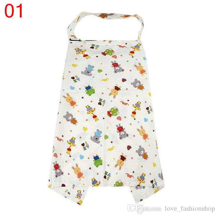 17色のマルチユースベビーママコットン漫画介護カバー母乳育児スカーフブランケットケープカバーオーバークロス授乳
