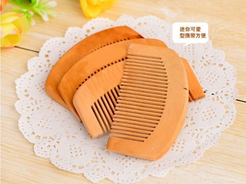 Ahşap Tarak Doğal Sağlık Şeftali Ahşap Anti-statik Sağlık Sakal Tarak Cep Combs Saç Fırçası Masaj Saç Şekillendirici Aracı