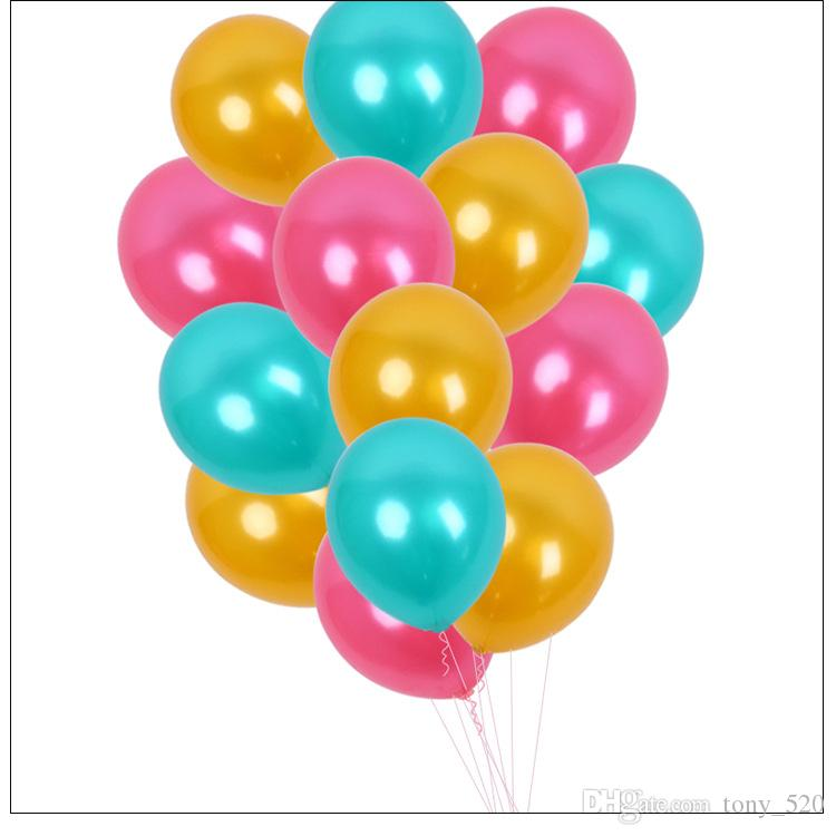 Sale Colorful Balloons 12 Inch Pearl Color Latex Balloons 2 8 G Birthday Party Decoration Latex Balloons Large Helium Balloon Balloon Decorations For