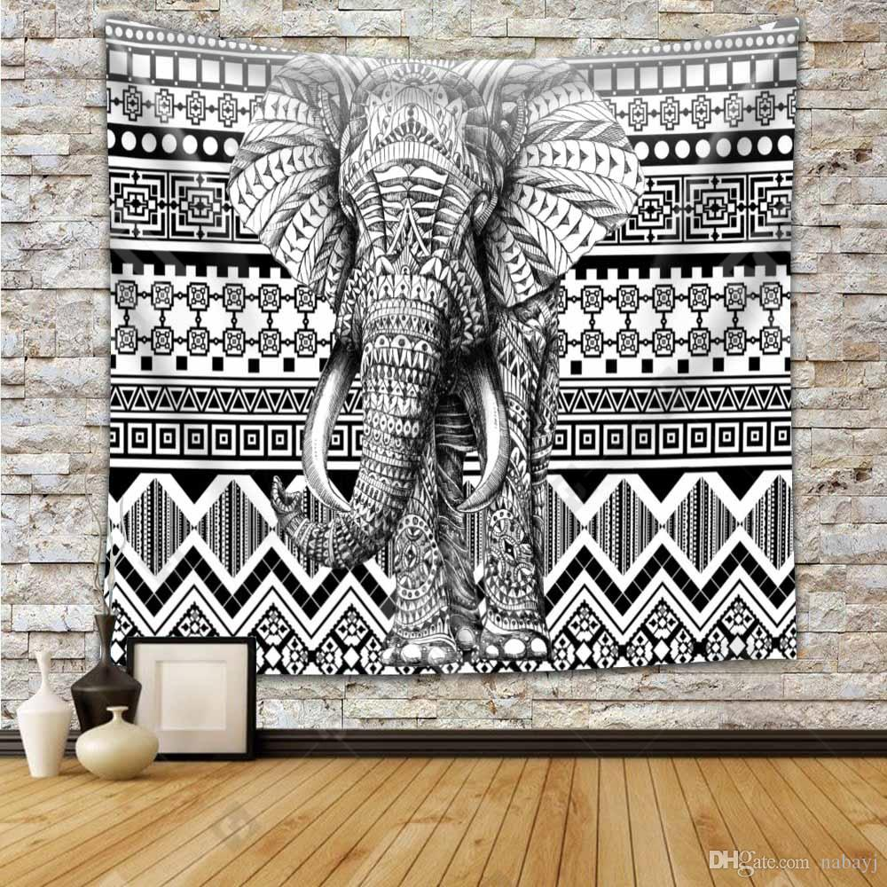 Elephant Tapestry Bohemian Household Arazzi Hanging Wall Act Il ruolo Ofing Beach Towel Beach Blanket Tapestry Carpet mix 21 stili