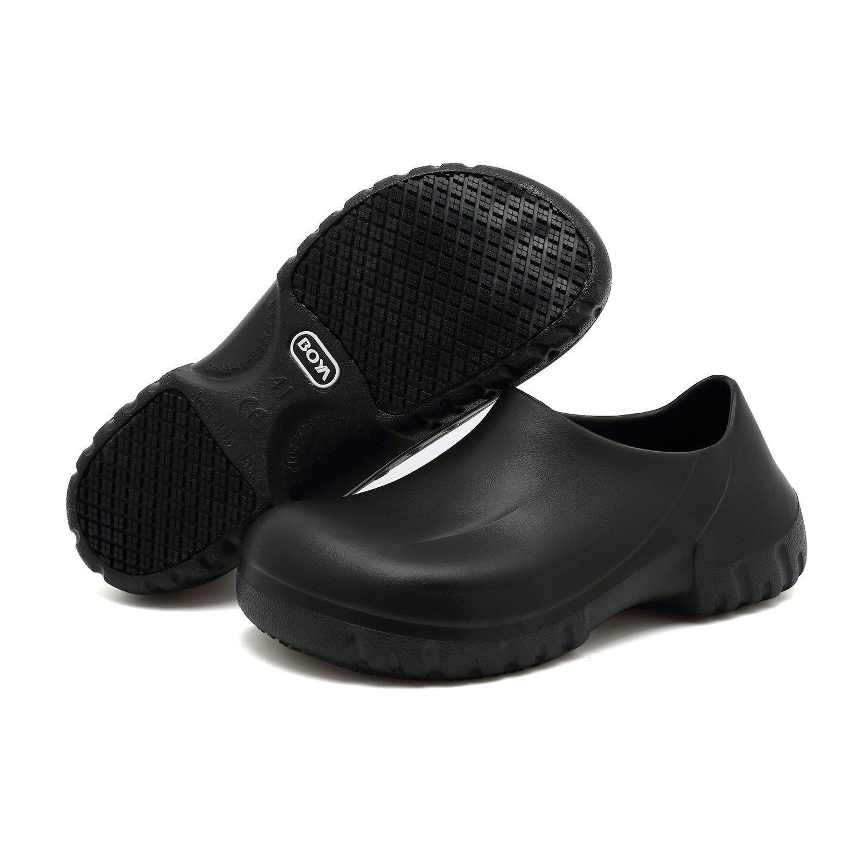 Rutschfeste Schuhe für Frauen Männer Schwarz Rutschfeste Küche  Arbeitsschuhe für Krankenschwester Chef Slip On