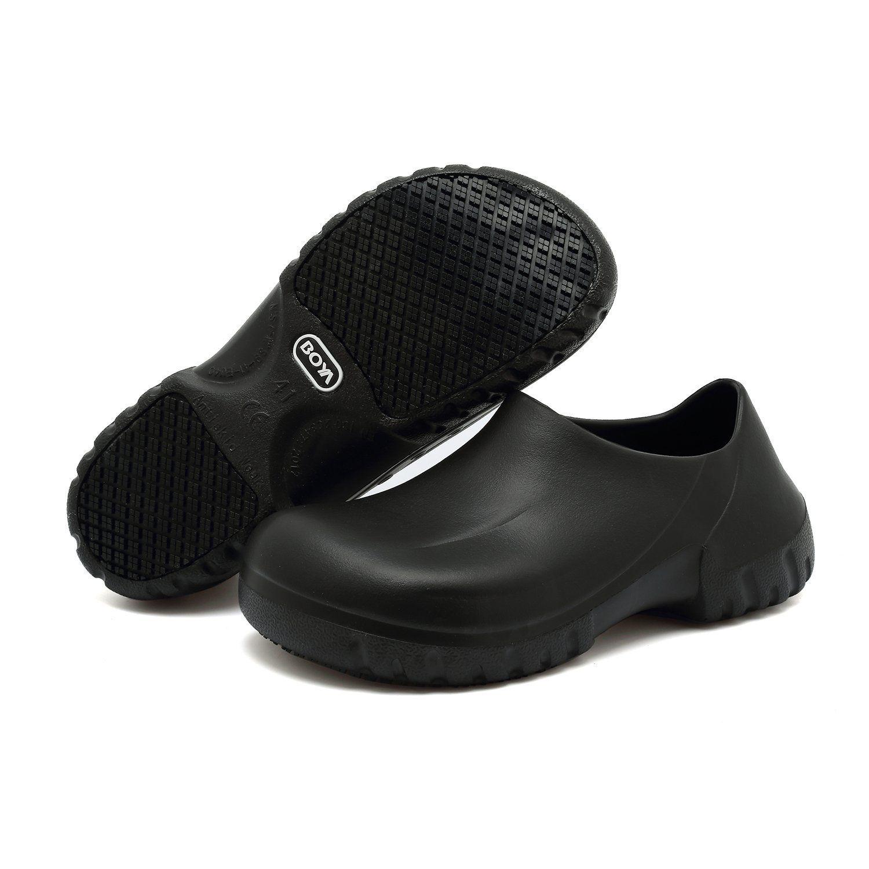 a3b538225144 2019 Slip Resistant Shoes For Women Men Black Non Slip Kitchen Work Shoes  For Nurse Chef Slip On From Henty