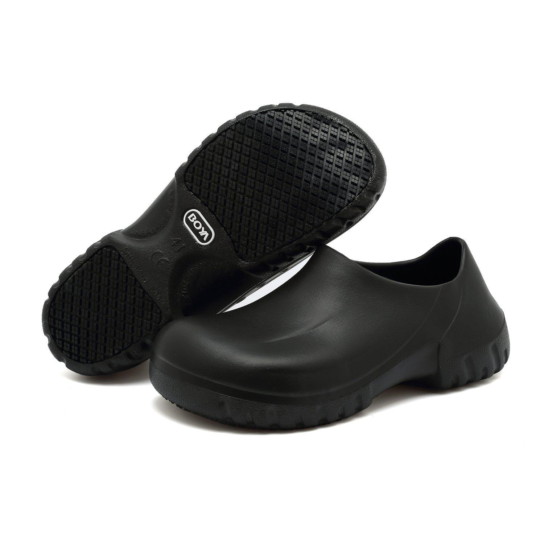 Trabajo Antideslizantes Chef Zapatos Negros Hombres Para Mujeres Slip De On Cocina DHE2IWY9