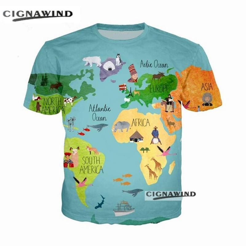 New summer top funny t shirt menwomen 3d printing cartoon world map new summer top funny t shirt menwomen 3d printing cartoon world map t shirts short sleeve harajuku style tshirt streetwear funky t shirt tie shirts from gumiabroncs Images