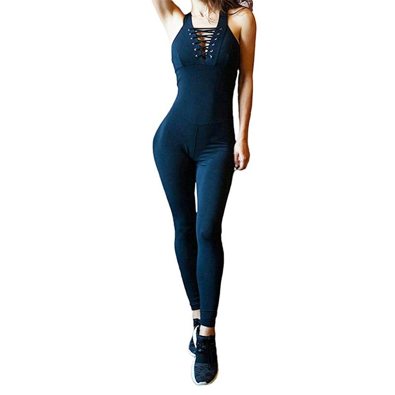 40d4f2fbabf 2019 Sports Wear For Women Gym Clothing Fitness Gym Yoga Jumpsuit Running  Leggings Pants Athletic Workout Bandage Romper Clothes Set From  Kuaigoubian