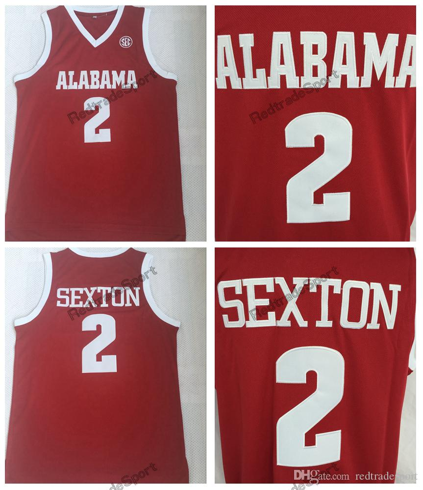 c8dcf5ec8 2019 2018 Mens 2 Collin Sexton College Jersey Alabama Crimson Tide Basketball  Jerseys Home Red  2 Collin Sexton Stitched Shirts S XXL From Redtradesport