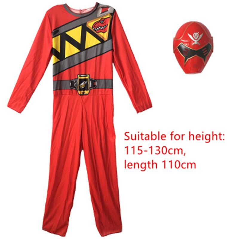 Power Rangers Dino Charge Jumpsuit Mask Cosplay Red Blue Muscle Power Ranger  Kids Boy Costume Halloween Child Kleding Zenta Scary Costumes Family  Halloween