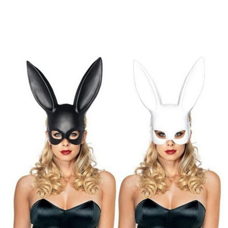 Home Beautiful New Rabbit Head Mask Cosplay Accessories Adult Role Playing Carnival Rabbit Dance Mask High Quality Materials