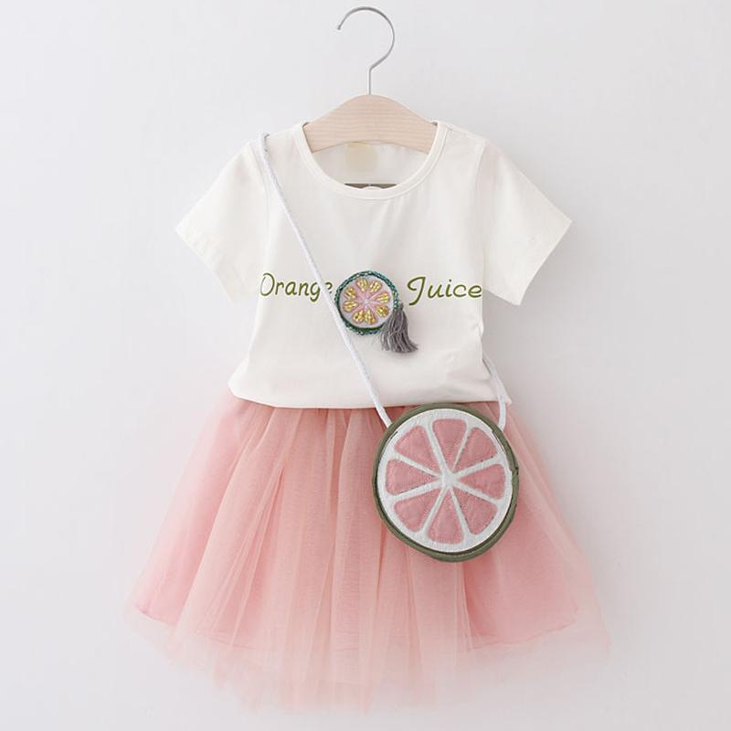 5c518276 2019 Girls Clothing Sets 2018 New Summer Style Watermelon Print White Short  Sleeve T Shirt +Short Skirt Suit Brand Kids Clothes Y1892808 From  Shenping02, ...