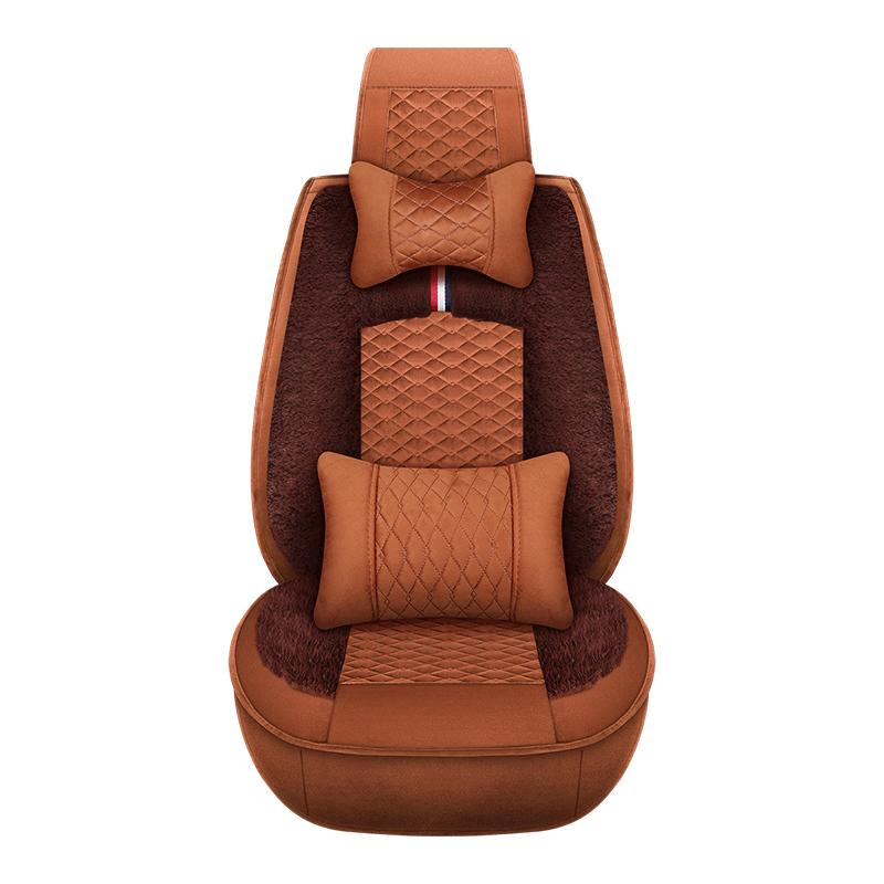 Car Seat Cushion Cover Winter Warmer Full Set Front And Rear Universal Size Fit For Most Of 5seat Interior Accessories Automotive Covers