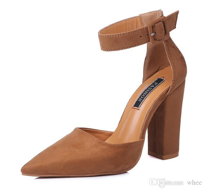 2018 Nuevo listado de las mujeres vestido de zapatos de tacones altos sandalias de las mujeres bombas tacones puntiagudos sandalias huecas 2