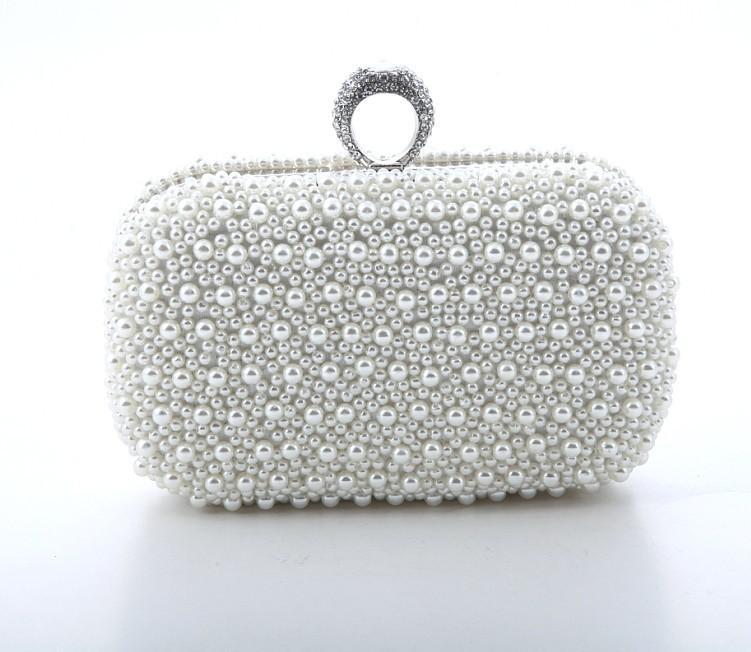 4d5d4eede9fc Hand Made Beautiful Beaded Ivory Bridal Handbag Wedding Bag Pearl In  Women S Handbags Banquet Evening Party Prom Clutch Bag Wedding Favor Bags  Yellow ...