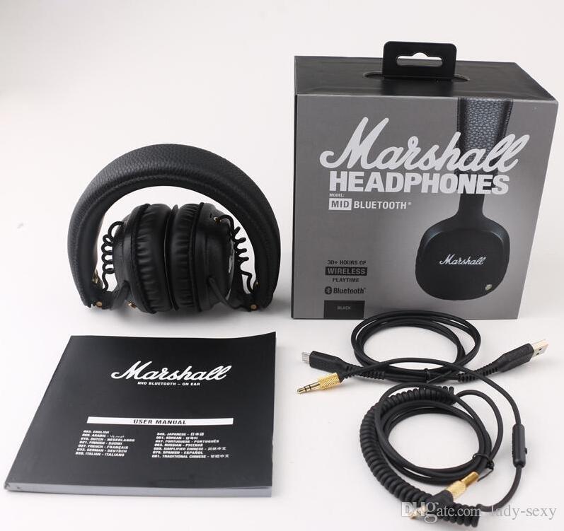 Acquista Marshall MID Cuffie Bluetooth Con Microfono Deep Bass DJ Hi ... d9c00a312ada