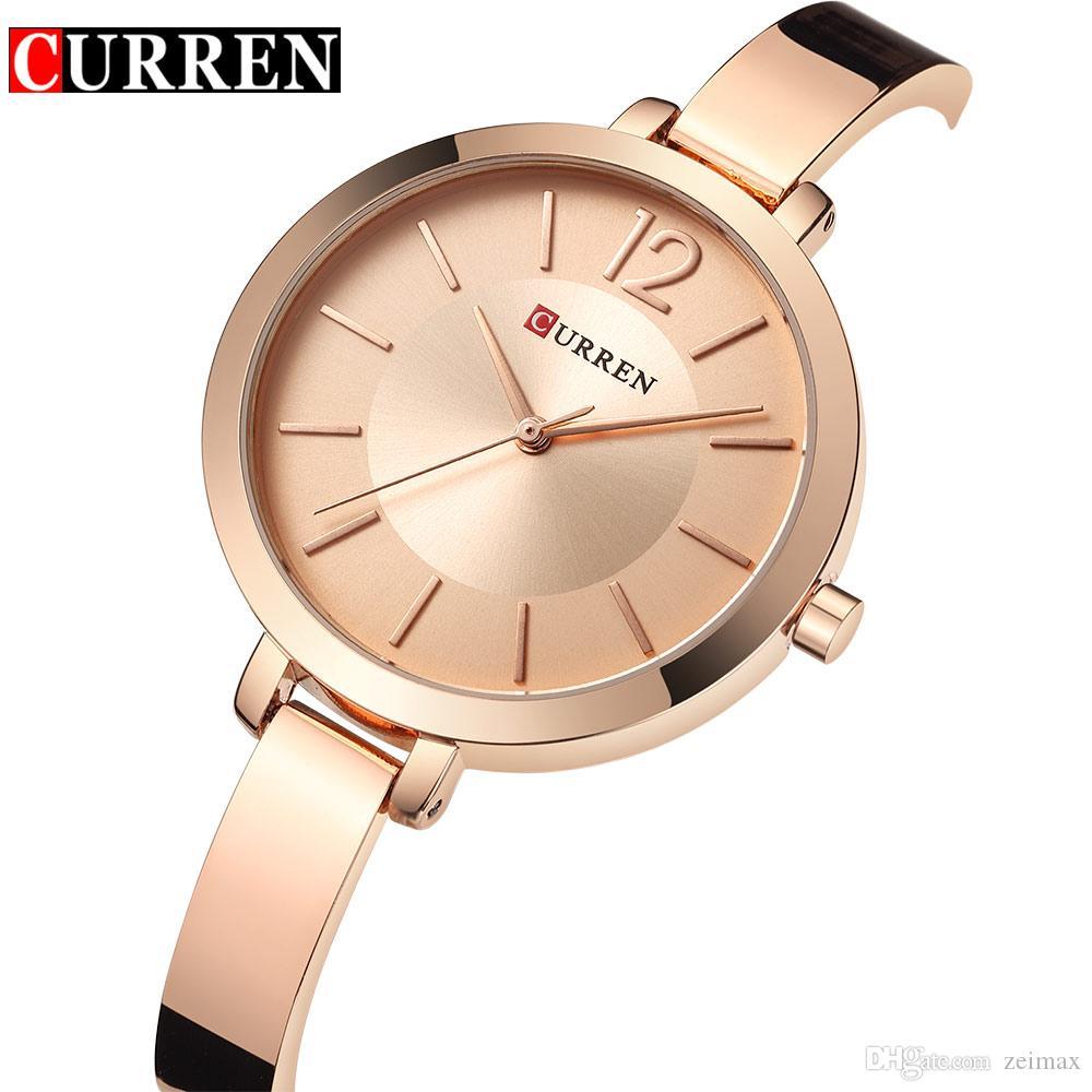 fbc3650df18 Fashion Quartz Watch Women Luxury Brand Steel Bracelet Ladies Quartz ...