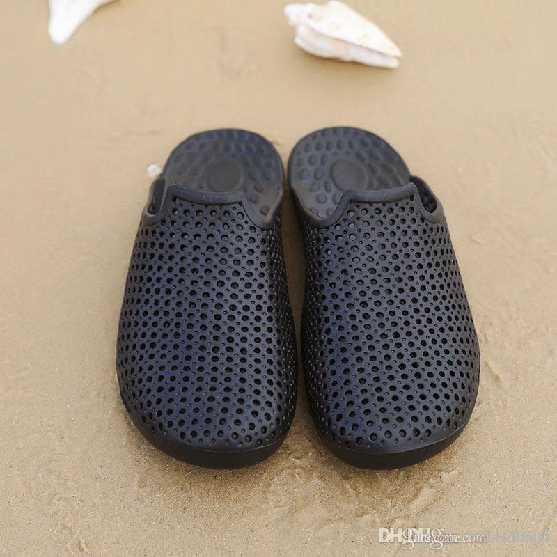 fff4e64dc4d Summer Slippers Men Eva Sandals Shoes Breathable Hollow Out Flip Flops  Rubber Garden Shoes Or Clogs