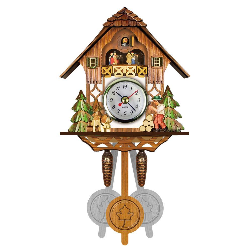 e6e6c7b75b8b Compre Reloj De Pared De Cuco De Madera Antiguo Tiempo De Pájaro Campanilla  Reloj De Alarma Decoración Del Arte Del Hogar Venta Caliente A  20.79 Del  ...