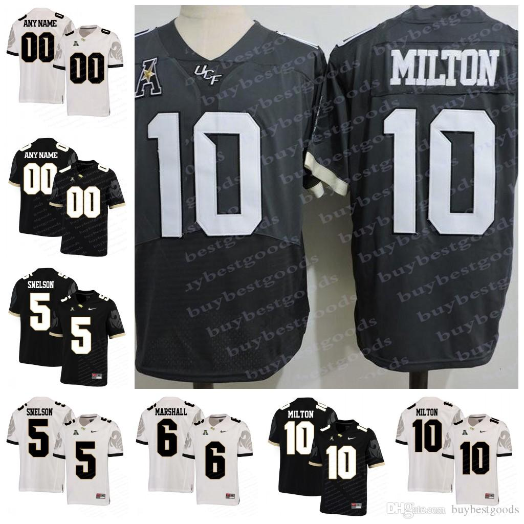 sports shoes dd361 884ba Custom NCAA UCF Knights 10 McKenzie Milton 5 Blake Bortles 18 Shaquem  Griffin 6 Brandon Marshall College Football Jersey Stitched