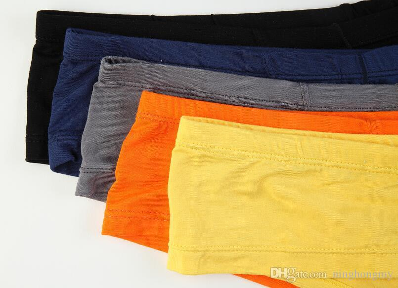 2018 Male Cool Sexy Elephant Nose Boxers Big Penis Bag Small Boxers Shorts Modal Fabric Underwear Gay Bragas Hombre Solid Tanga Wholesale