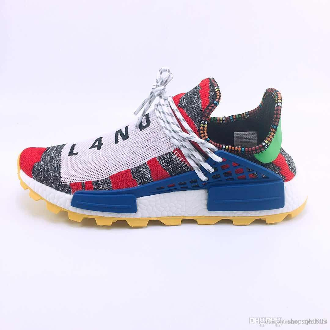 new products 8637b 0b7e5 Different prices Human Race Afro Hu Trial Red Green Pharrell Williams men  running shoes Black Solar Pack-3 women trainers sports sneaker