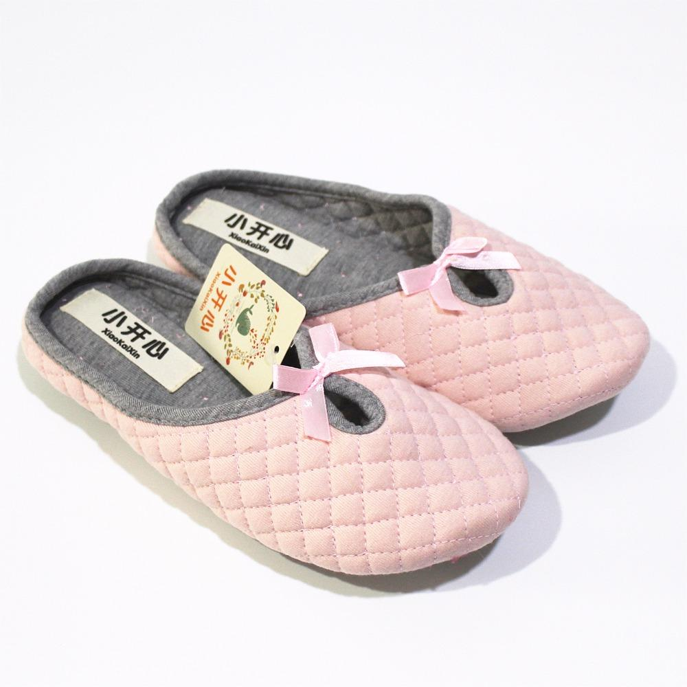 d0b991381e9 Simple Bowtie Spring Air Cotton Women Home Slippers For Indoor House Soft  Bottom Cotton Warm Shoes Adult Guests Flats Pantufa Womens Sandals Walking  Boots ...