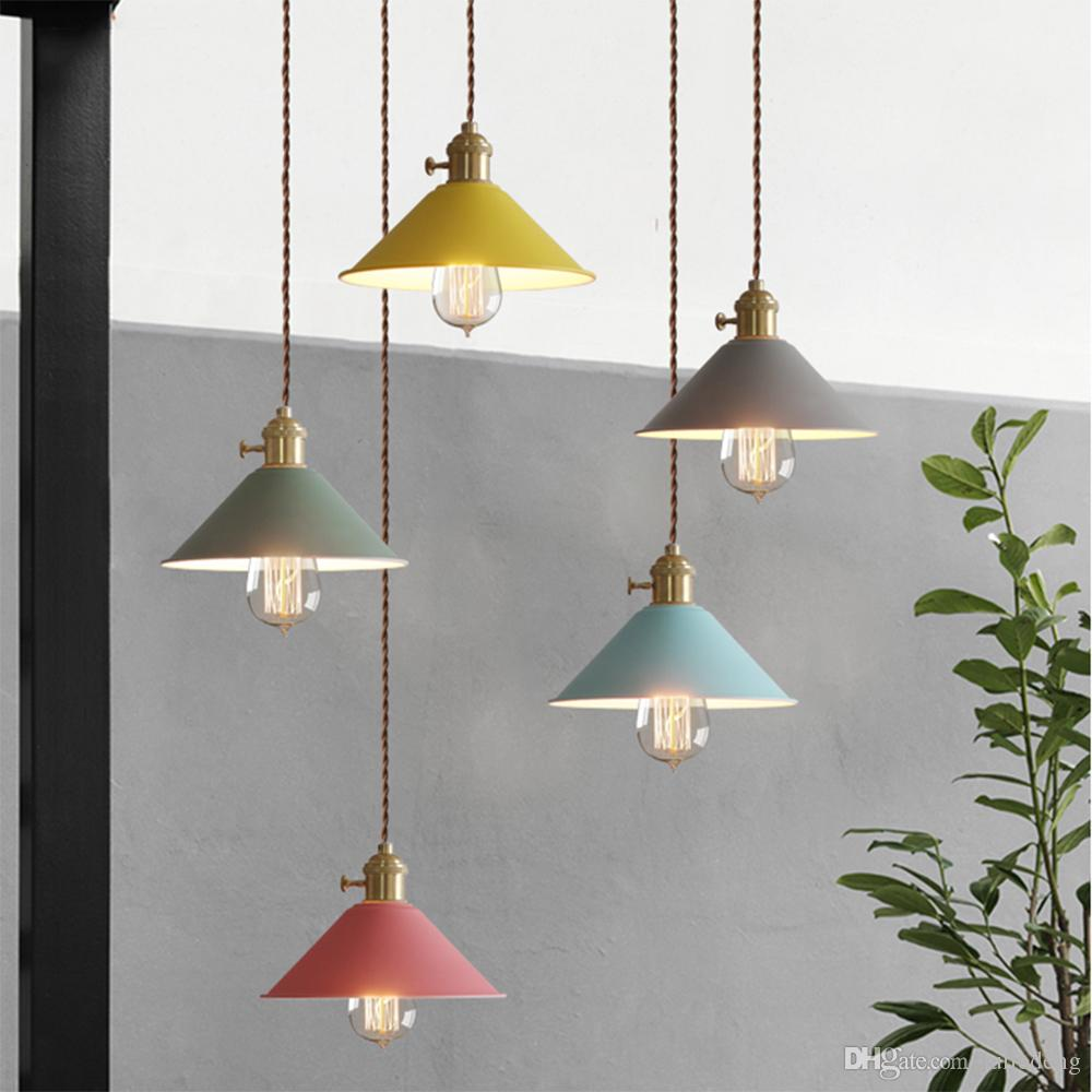 coffee shop hanging lamp macaron colorful design pendant light for rh dhgate com wall hanging lamp designs hanging lamp store design