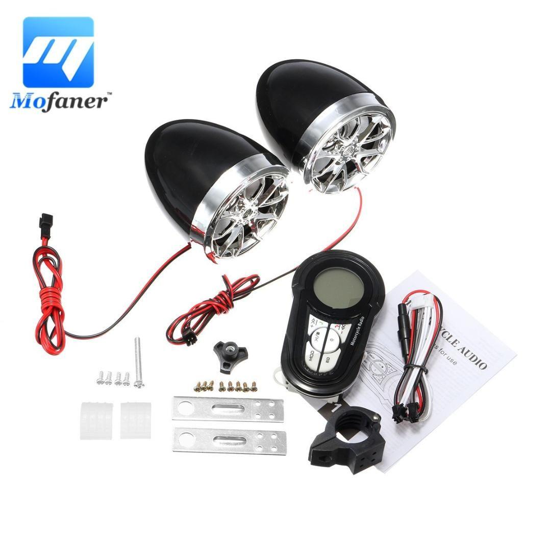 Mofaner Motorcycle Alarm Bluetooth Handfree Audio System Fm Radio Stereo Speaker Motorbike Scooter Anti Mheft Device