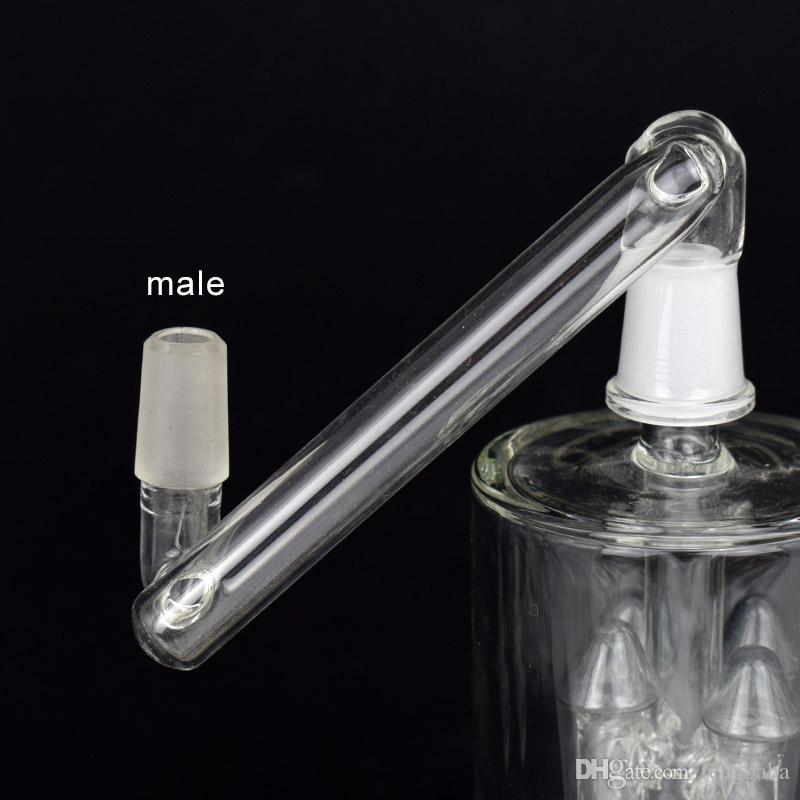 Adaptador desplegable para bongs de vidrio Fumar Masculino Femenino Convertidor Accesorios de humo Tubos de agua