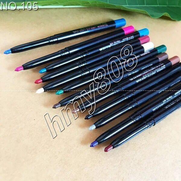 ماء الألوان كحل عينيه بطانة قلم رصاص الدوارة متعددة الأغراض القلم 12 لون مختلف في حزمة واحدة