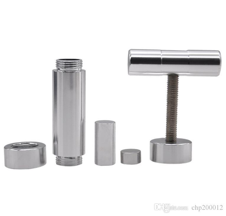 Аксессуары для прикуривателя, цилиндрический держатель дыма, алюминиевый дымовой прижим, металлический крупногабаритный дымогаситель.