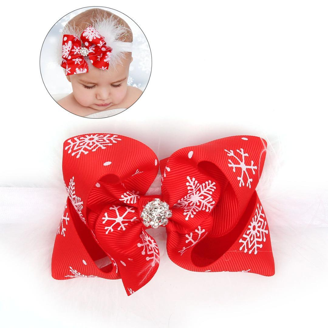 Baby Girl Christmas Headband Newborn Infant Feather Bowknot Hair Band  Headwear Accessories Christmas Decoration Houses Christmas Decoration Items  From ... 6c6e75d85b1