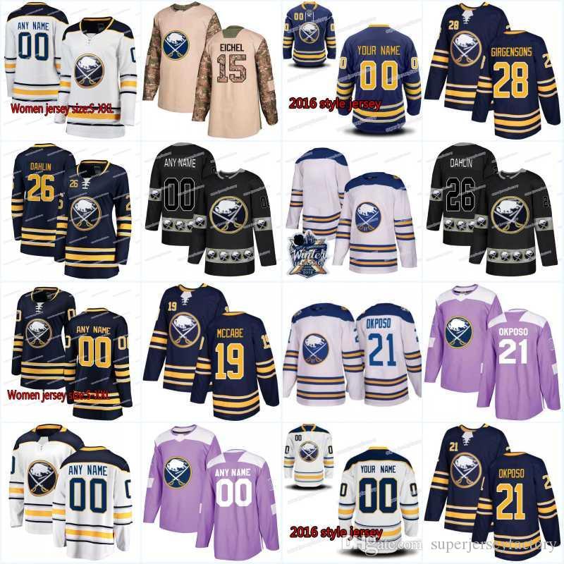 low priced ed45f d767f New Season Buffalo Sabres Jersey 92 Alexander Nylander 49 C.J. Smith 95  Justin Bailey 13 Nicholas Baptiste 21 Kyle Okposo Jerseys