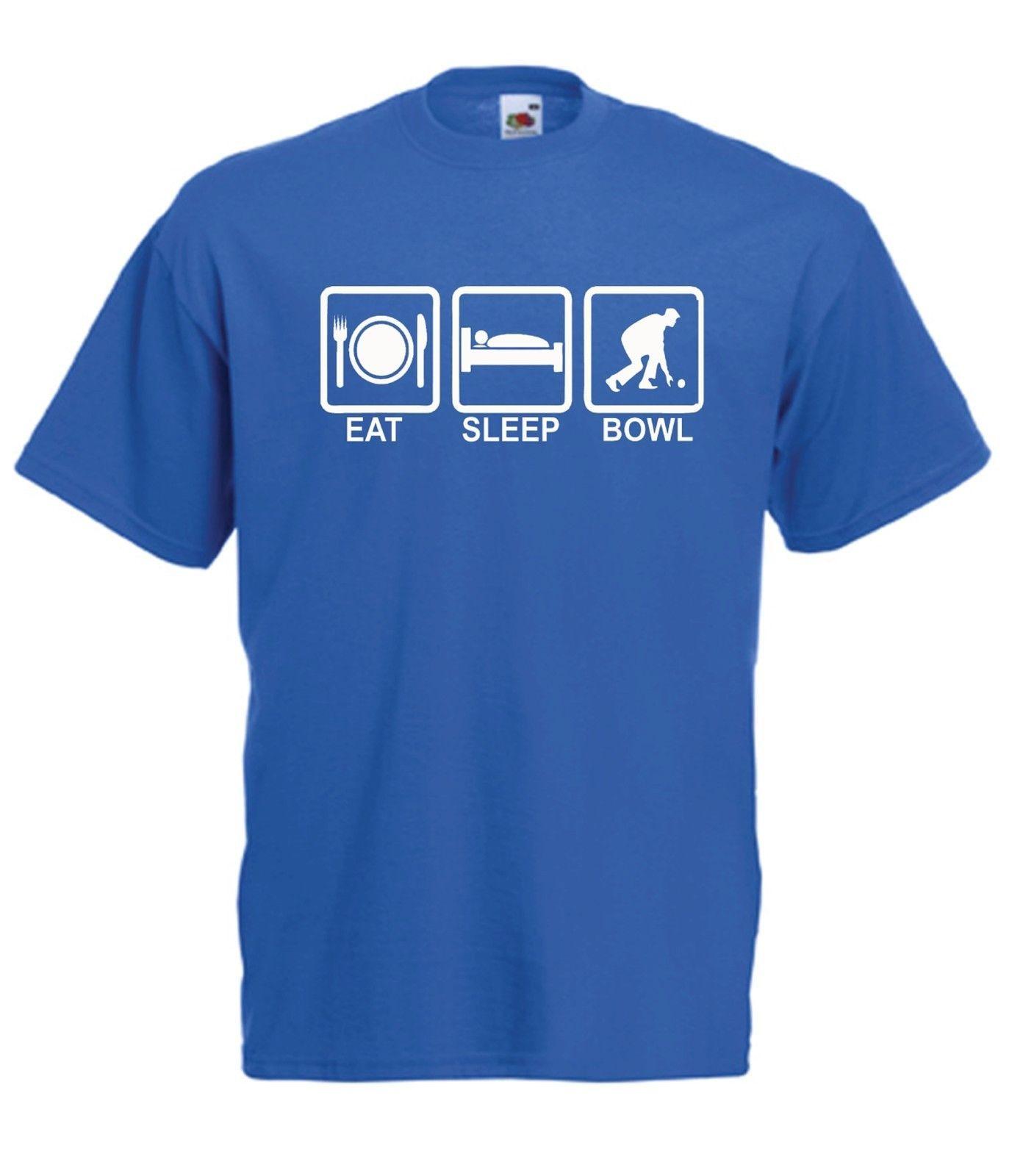 d5e275ebf2 EAT SLEEP BOWLS FUNNY BOWLING Fathers Xmas Birthday Gift New Mens Womens T  SHIRT Funny Unisex Casual Tee Gift Online Tshirt Shopping Artistic T Shirts  From ...