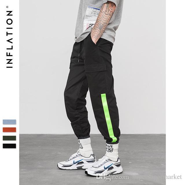 5391c9af24dd5 Compre INFLACIÓN Pantalones Anillados En El Tobillo 2018 Pantalones  Masculinos De La Marca Para Hombre Para Mujer Pantalones De Chándal  Casuales Ocasionales ...