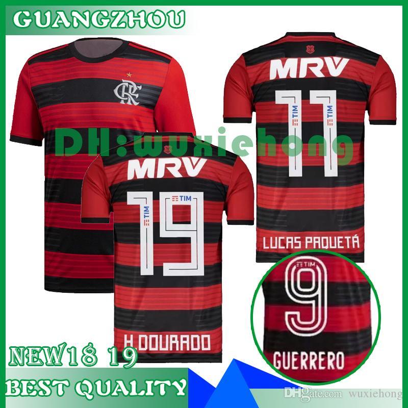 6892b44748d62 18 19 Camiseta Flamengo Camiseta Flamengo 2018 2019 Brasil Flamenco  Visitante ZICO ELANO HERNANE Camisetas De Fútbol Camiseta De Hombre  Deportivo Por ...